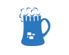 ruinpubs and bars icon, a beer mug resembling a ruined castle